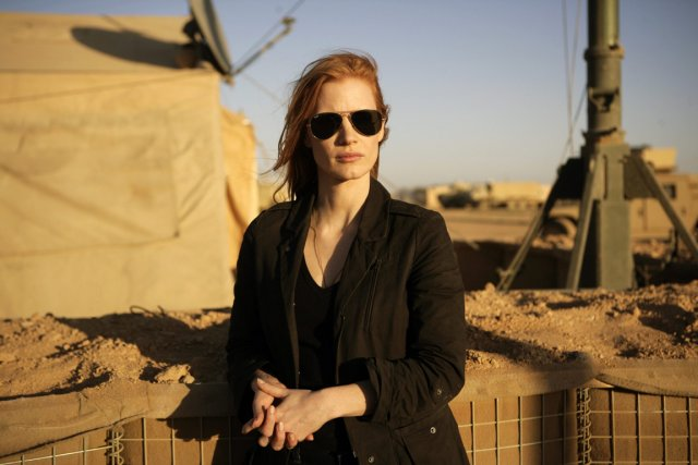Jessica Chastain dans une scène de Zero Dark... (Photo AP/Columbia Pictures)
