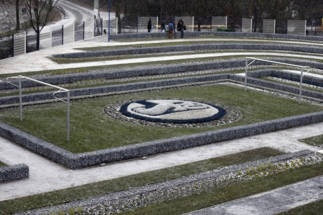 Le cimetière des supporteurs de Schalke 04, un... (Photo: AP)