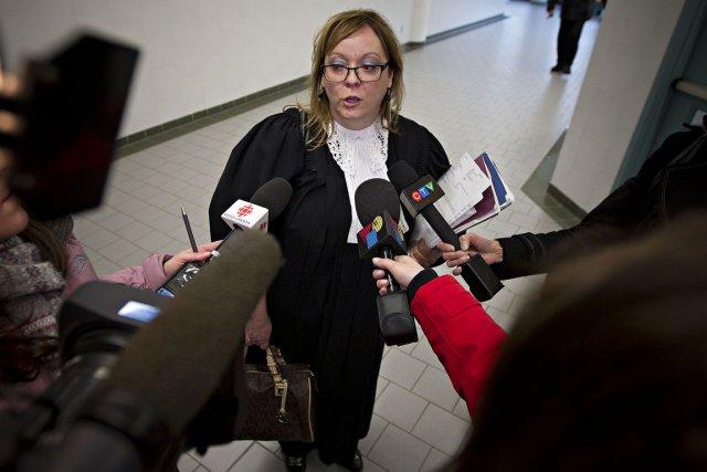 L'avocate de l'aide juridique Manon Deschênes, qui représente... (PHOTO PATRICK SANFAÇON, LA PRESSE)