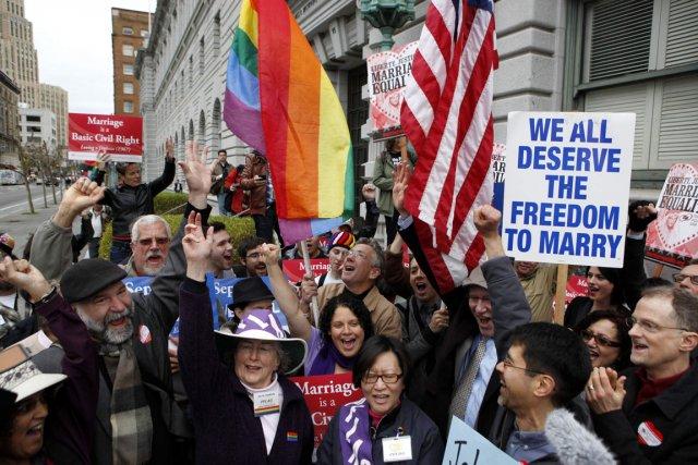 L'union homosexuelle est autorisée dans 9 des 50... (PHOTO BECK DIEFENBACH, ARCHIVES REUTERS)