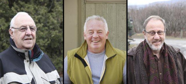 André Pontbriand, Luc Senay et Yves Gosselin... (photos La Voix de l'Est)