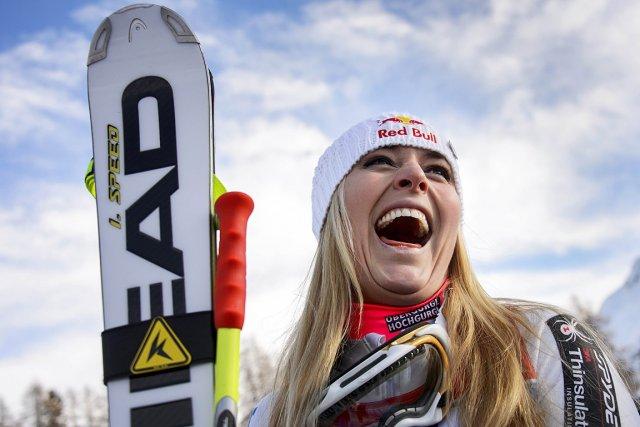Lindsey Vonn a remporté samedi le super-G de... (Photo: AFP)