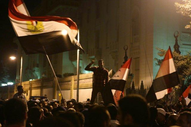 Des milliers de manifestants anti-Morsi se sont rassemblés... (Photo : Patrick Baz, AFP)