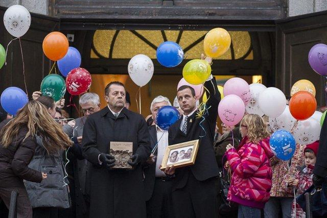 Les obsèques de Lorélie, Loïc et Anaïs se... (Olivier PontBriand, La Presse)