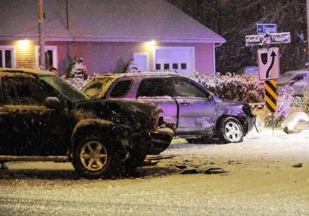 Un accident sur le boulevard des Forges à... (Sylvain Mayer)