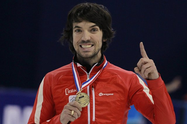 Charles Hamelin a remporté l'or à la finale... (Photo: Reuters)