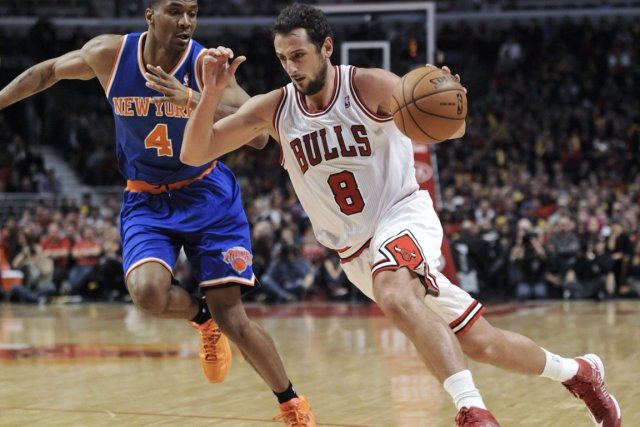 Marco Belinelli a marqué 15 points au premier... (Photo : Paul Beaty, AP)