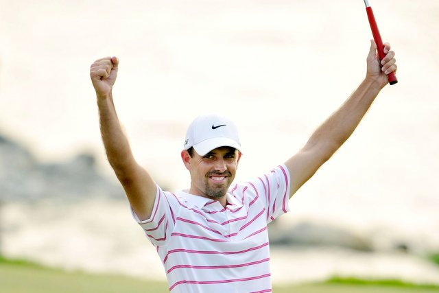 Charl Schwartzel a inscrit un score global de... (Photo : Paul Lakatos, AFP)