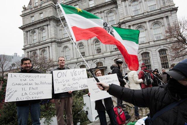 Selon les organisateurs de la marche contre la... (Photo: Édouard Plante-Fréchette, La Presse)