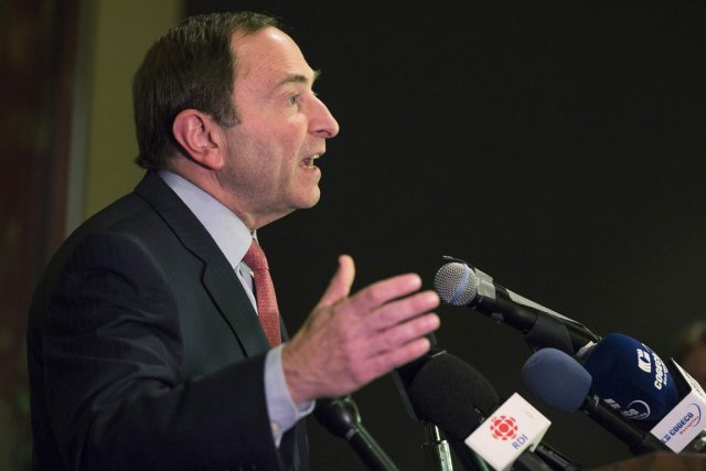 Le commissaire de la LNH, Gary Bettman... (Photo: Reuters)