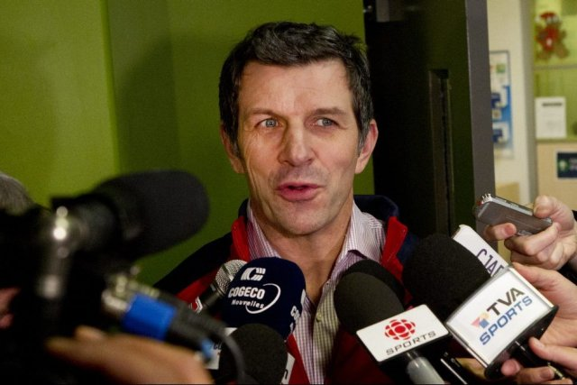 Le directeur général du Canadien, Marc Bergevin, se... (PHOTO ROBERT SKINNER, LA PRESSE)