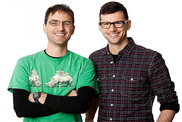 Jean-Sébastien Busque (à gauche) et Frédéric Choinière se...
