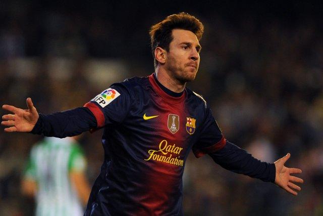 Lionel Messi, l'homme aux 86 buts en 2012.... (Photo: AFP)