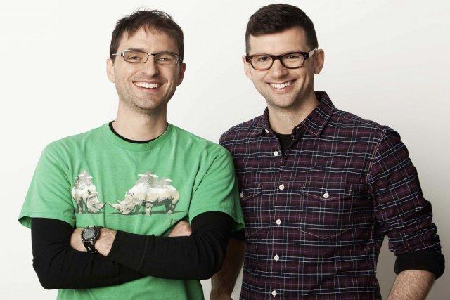 Jean-Sébastien Busque et Frédéric Choinière, des verts nouveau... (Photo: fournie par Télé-Québec)