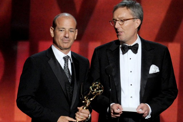 Howard Gordon et Gideon Raff lors des Emmy... (Photo: archives La Presse)
