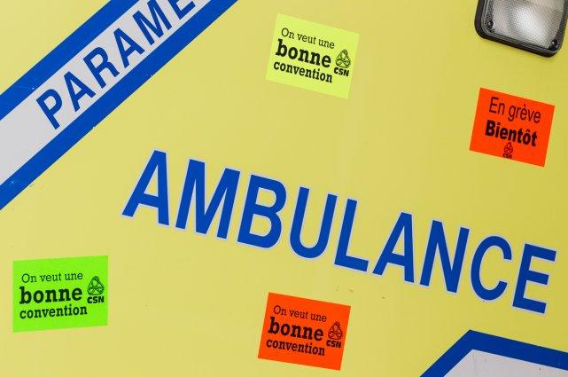 La grève des ambulanciers-paramédicaux touche les 2500 membres... (Photo Édouard Plante-Fréchette, archives La Presse)