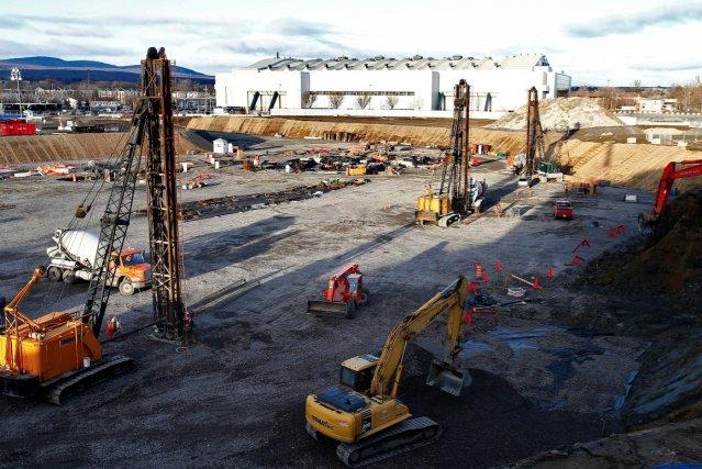 L'amphithéâtre en construction... (Photothèque Le Soleil, Yan Doublet)