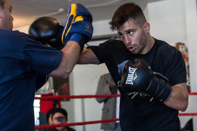 David Lemieux à l'entraînement.... (Photo: Edouard Plante-Fréchette, La Presse)