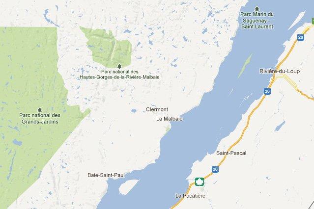 L'épicentre était situé à 16 km au nord-est... (Google Maps)