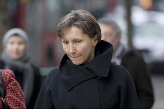 Marina Litvinenko, veuve d'Alexandre, est aperçue à son... (PHOTO MATT DUNHAM, AP)