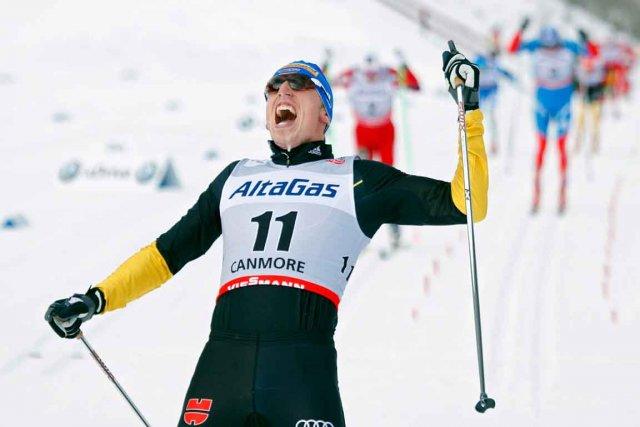 L'Allemand Tim Tscharnke célèbre sa victoire au 15... (La Presse Canadienne)