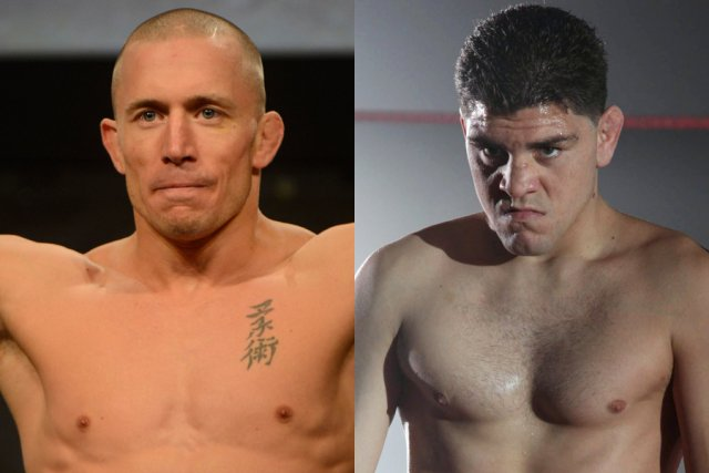 Georges St-Pierre will face Nick Diaz on 16 American ...  (Photos: Press and AP)