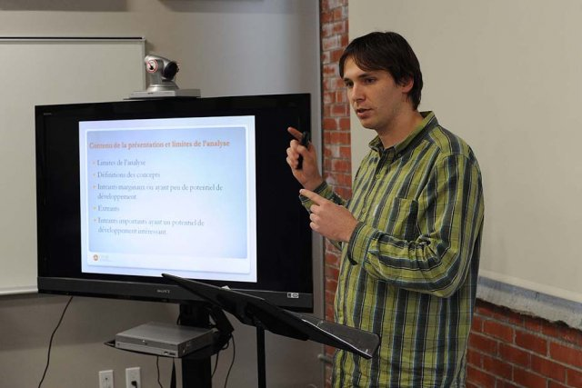 Steven Hill, agent de développement au Centre de... (Photo: Sylvain Mayer)