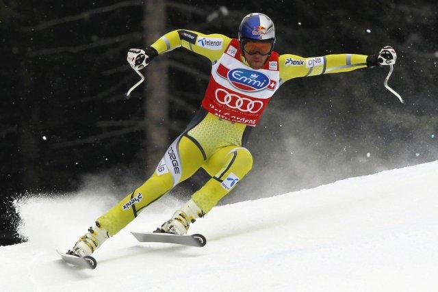 Le Norvégien Aksel Lund Svindal a signé sa... (Photo: Reuters)