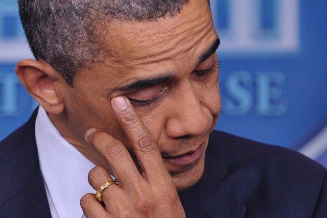 Le président Obama s'est passé un doigt sur... (Photo Mandel Ngan, AFP)