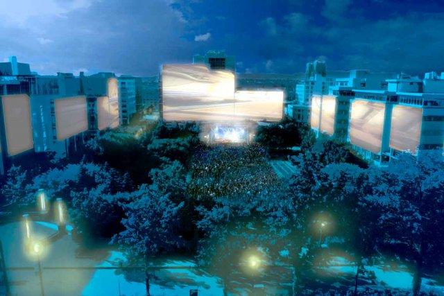 Le projet technologique et artistique devait être installé... (Maquette fournie par Beenox)