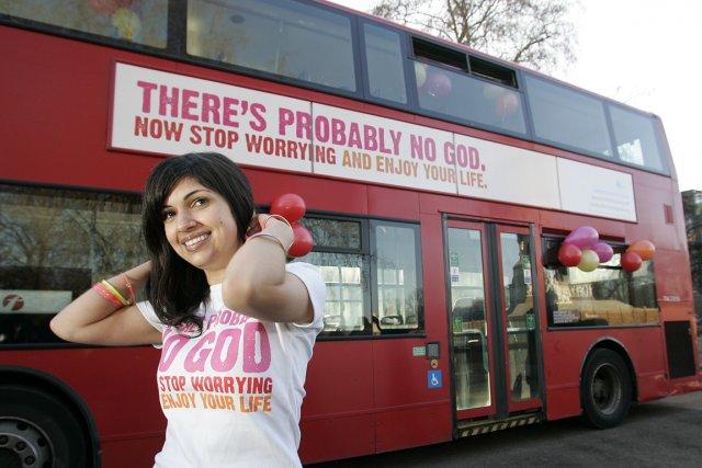Ariane Sherine, instigatrice d'une campagne londonienne pour faire... (Photo Akira Suemori, AP)