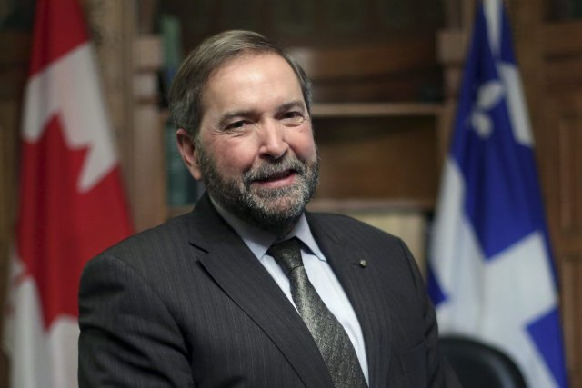 Thomas Mulcair... (Photo FRED CHARTRAND, La Presse Canadienne)