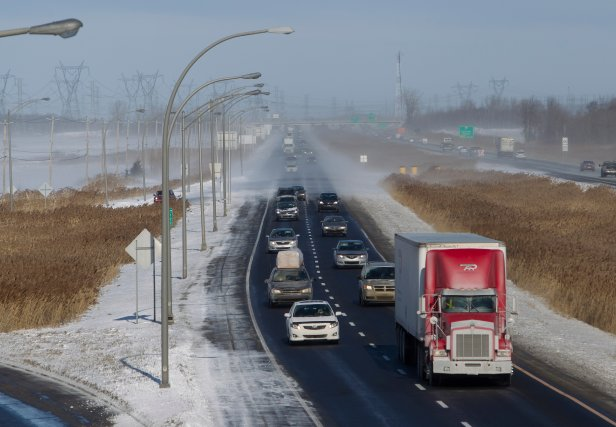 L'inauguration officielle du dernier tronçon de l'autoroute 30, dans le ... (Archives La Presse)