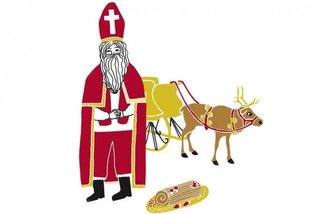 Le père Noël comme sujet d'étude? Pourquoi pas. Professeure de littérature... (Illustration: Charlotte Demers-Labrecque, La Presse)