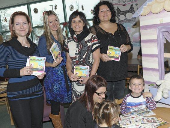 Marie-Audrey Bergeron, Stéphanie Plourde (accroupie), Barbara Siless, Myriam... (Photo Gimmy Desbiens)
