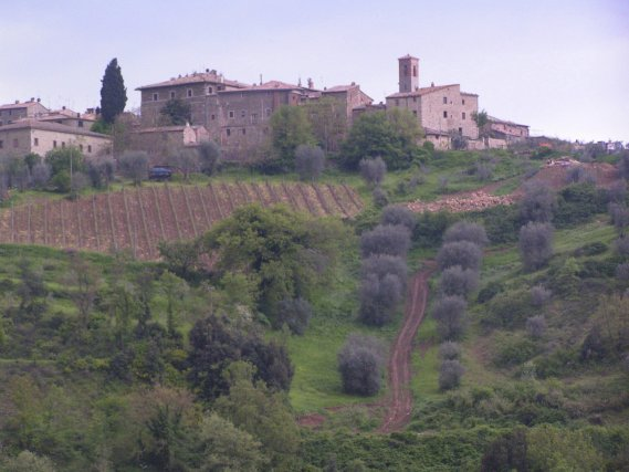 Le château Brunello de Montalcino, en Toscane.... (PHOTO ARCHIVES LA PRESSE)