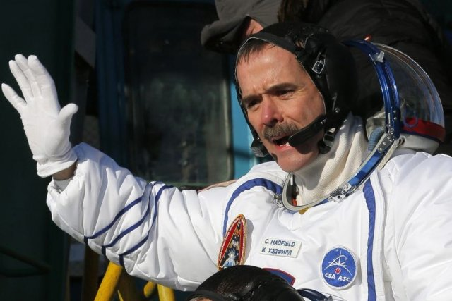 Chris Hadfield... (Photo AFP)