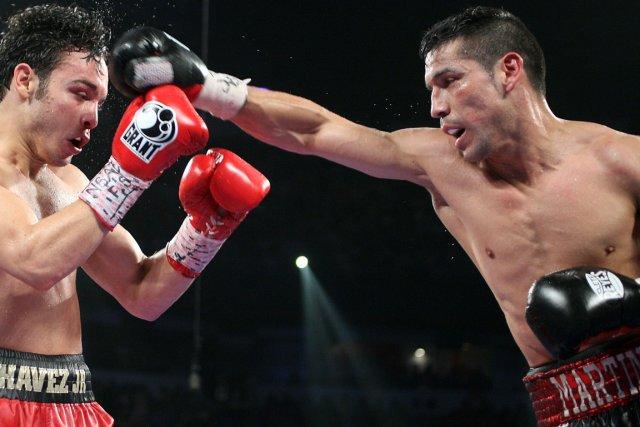 Le boxeur argentin Sergio Martinez (à droite) a... (Photo AFP)