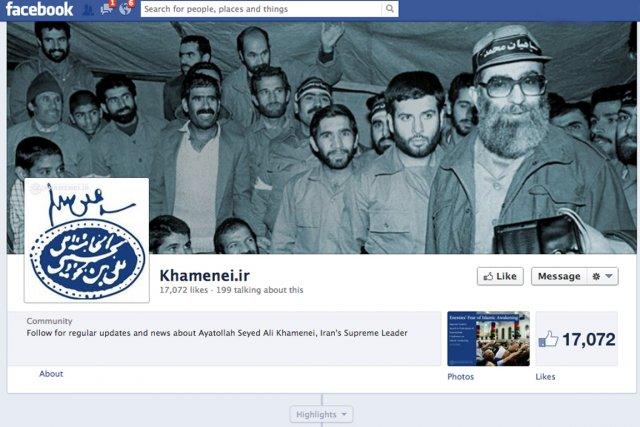L'ayatollah Ali Khamenei est désormais présent sur le... (IMAGE TIRÉE DE FACEBOOK)