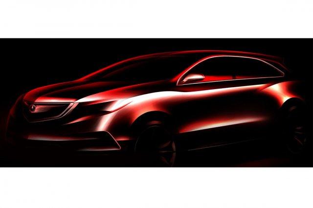 Le MDX à l'état de prototype.... (Illustration fournie par Acura)