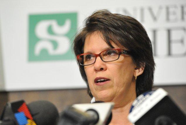 Luce Samoisette, rectrice de l'Université de Sherbrooke.... (Archives La Tribune, Maxime Picard)