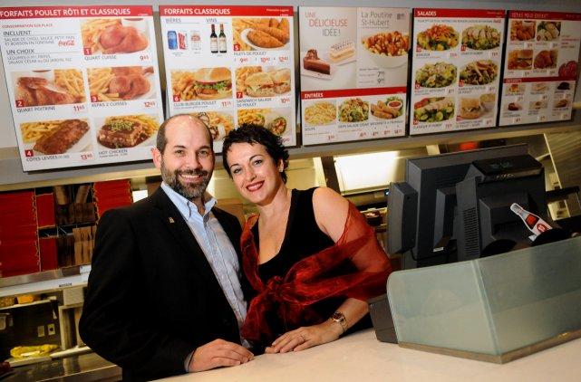 Les franchisés Luc Pelletier et Lynda Provencher étaient... (Photo: François Gervais)