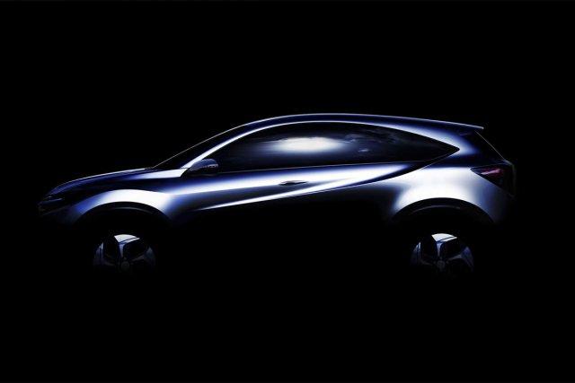 La silhouette du prototype de VUS urbain compact... (Photo fournie par Honda)