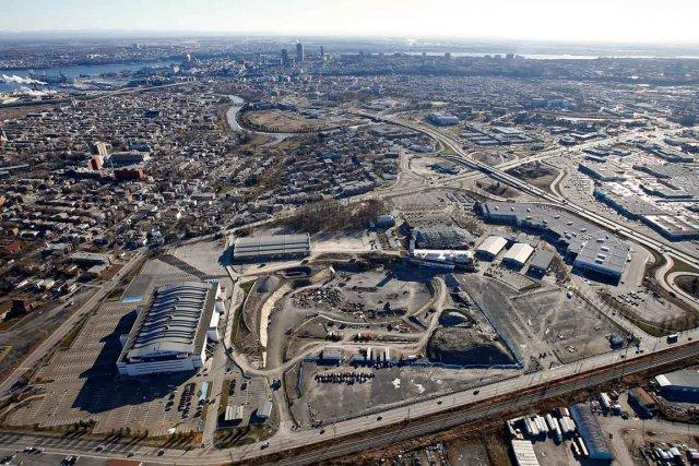 Vue aérienne du chantier de l'amphithéâtre... (Le Soleil, Yan Doublet)