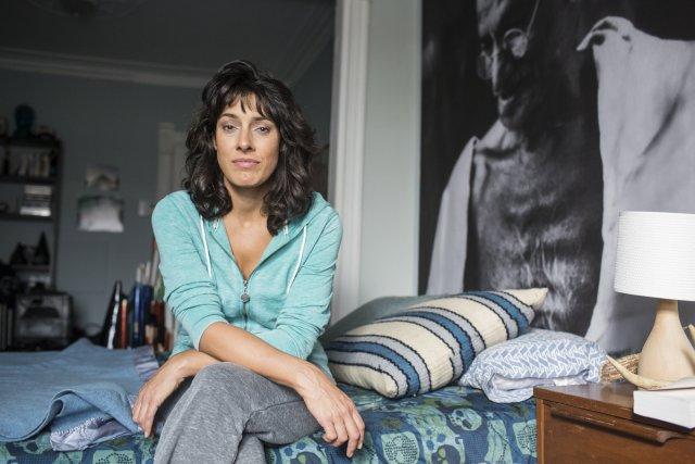 Marie-Hélène Thibault sur le plateau montréalais du film... (Photo: Édouard Plante-Fréchette, La Presse)