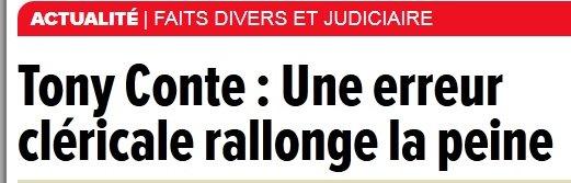 Le quotidien montréalais nous apprenait cette semaine qu'une erreur  «...