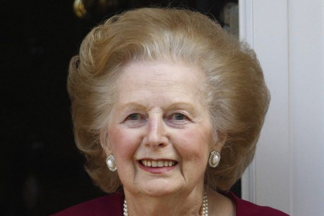Margaret Thatcher est âgée de 87 ans.... (PHOTO ANDREW WINNING, REUTERS)