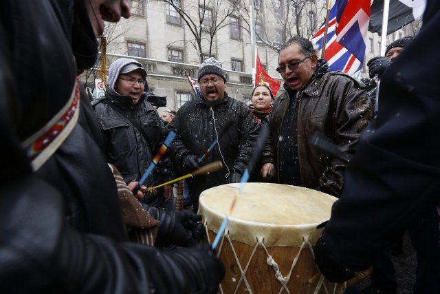 Le mouvement Idle No More, version autochtone des... (Photo Chris Wattie, archives Reuters)