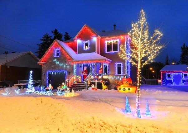 La maison la plus illuminée pour Noël se... (Photo fournie par la Ville de Québec)