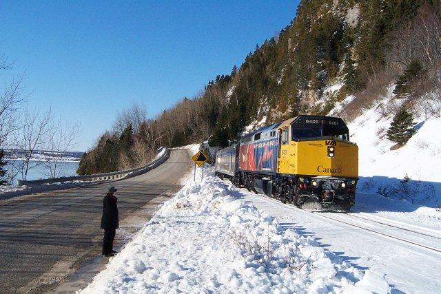 Depuis un an, le train de Via Rail... (Photo collaboration spéciale Gilles Gagné)
